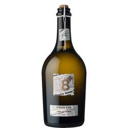 Sior Nani Spago Prosecco Frizzante DOC Glera Ottopiù Vineyards V8+ Vino Bianco 1 Bottiglia CL 75