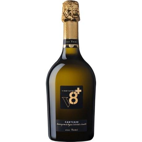 Sior Toni Spumante Dry Prosecco Valdobbiadene Superiore di Cartizze DOCG Ottopiù Vineyards V8+ Vino Bianco 1 Bottiglia CL 75