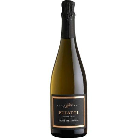 Rosè De Noirs Pinot Nero Vino Spumante di Qualità Metodo Classico Extra Brut Puiatti Vino Rosato 1 Bottiglia CL 75