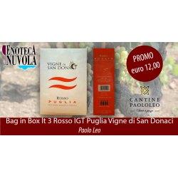 Bag in Box Rosso IGT Puglia Vigne di San Donaci Paolo Leo LT 3