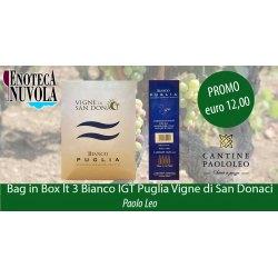 Bag in Box Bianco IGT Puglia Vigne di San Donaci Paolo Leo LT 3